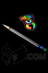 Sherbet Glass - Glass Pencil Dabber UV Nova with UV Green Eraser