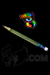 Sherbet Glass - Glass Pencil Dabber UV Nova with White Eraser