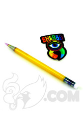 Sherbet Glass - Glass Pencil Dabber Yellow with Pink Tip