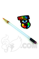Sherbet Glass - Glass Pencil Dabber Lunar Rays with Red Tip