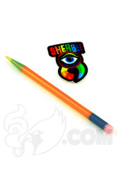 Sherbet Glass - Glass Pencil Dabber Orange with Multi-color Accents