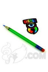 Sherbet Glass - Glass Pencil Dabber Sparkle Green