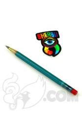 Sherbet Glass - Glass Pencil Dabber Teal with Grey Tip