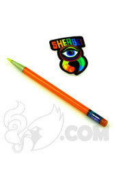 Sherbet Glass - Glass Pencil Dabber Orange with Yellow Tip