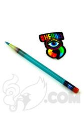 Sherbet Glass - Glass Pencil Dabber Deep Teal