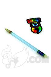 Sherbet Glass - Glass Pencil Dabber Transparent Light Blue