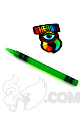 Sherbet Glass - UV Green Glass Crayon Dabber