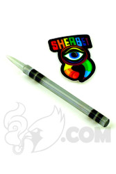 Sherbet Glass - Grey Glass Crayon Dabber