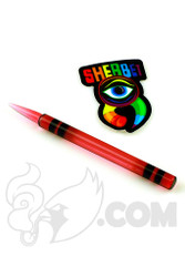 Sherbet Glass - Gold Ruby Glass Crayon Dabber