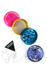 Santa Cruz Shredder x Pink Dolphin - 4 Piece Medium Blue Dolphin Grinder