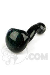 Marni x Cajun - Crushed Opal Handpipe with Teal Swirl Window
