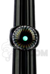 Marni x Cajun x Steve H. - Crushed Opal Ring with Implosion Milli Fisheye (Size 7)