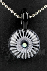 Steve H. Glass - Implosion Black and White Pendant