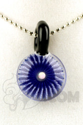 Steve H. Glass - Implosion Blue and White Pendant