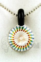 Steve H. Glass - Implosion Rainbow Pendant with Black Bail