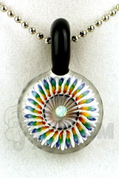 Steve H. Glass - Implosion Rainbow Pendant with Black Accents