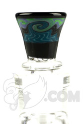 Mike Fro Glass - 14mm 3 Hole Teal Slide
