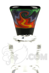 Mike Fro Glass - 14mm 3 Hole Rainbow Slide