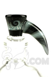 Mike Fro Glass - 14mm 3 Hole Horned Grey Slide