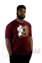 Coughing Cardinal - Baked Boomer Unisex Maroon Tee