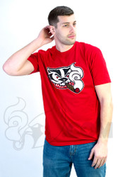 Coughing Cardinal - Blazed Badgers Unisex Red Tee