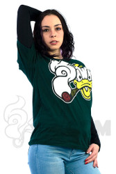 Coughing Cardinal - Dank Ducks Unisex Green Tee