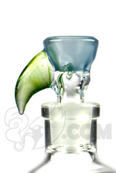 Yig - 14mm 3 Hole Silver Fumed Serum Slide with Haterade Horn