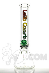 Left Coast - 9mm Beaker with Multi Rasta Label