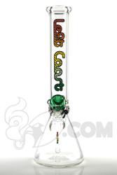 Left Coast - 7mm Beaker with Multi Rasta Label