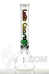 Left Coast - 5mm Beaker with Multi Rasta Label