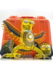 Steve H & Four Winds Flameworks Collab Terps Owl Set w/ 2 Pendants