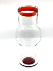 Mark Atech Glass Pomegranate Lip Wrapped Weizen Cup