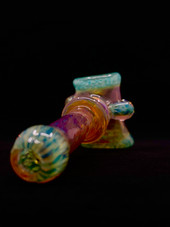 Nicks Glass Agua Azul & Purple Luster Multi-Section Dry Hammer