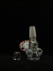 SuperRosinBros - 14mm Male NugPlug Bowl Clear/Raindrop w/ 2 Clear Screens