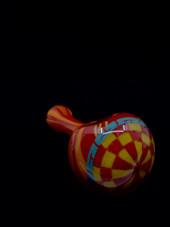 Steven Hoffman Checker Board Frit Pipe #3