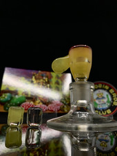 Super Rosin Bros - 14mm Pastel Serum/ Gold Ruby Nug Plug Bowl with 2 Plugs
