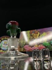 Super Rosin Bros - 14mm Planphibian/Royal Jelly Nug Plug Bowl with 2 Plugs