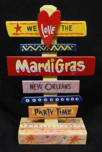 MARDI GRAS - NEW ORLEANS - SIGNPOST BY GEORGE BORUM