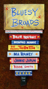 Bluesy Broads Wall Hanging by George Borum- WAS $95 - NOW $50