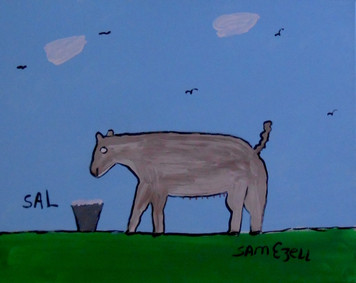 SAL (SOW?) #947 PAINTING by Sam Ezell