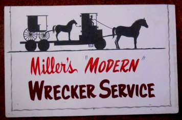 AMISH BUGGY FLATBED WRECKER SERVICE - by George Borum