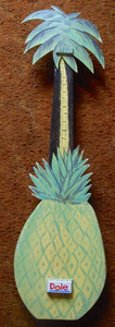 Humorous  Dole Pineapple HAWAIIAN GUITAR  w/ Palm Tree -WAS $75-Now $35
