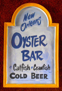 New Orleans OYSTER BAR Sign by George Borum