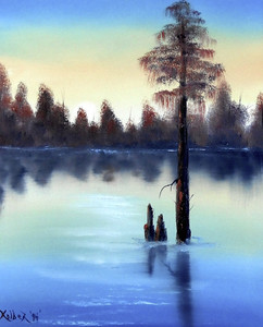 CYPRESS TREE in a Swamp by Kolber - '94