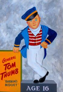General TOM THUMB - Barnum's Midget - Painting by George Borum