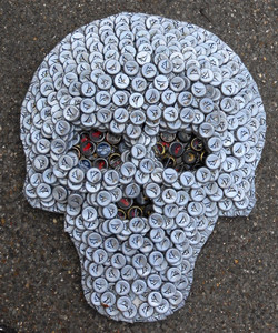 BOTTLE CAP SKULL by George Borum