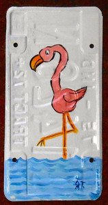 FLAMINGO License Plate by John Taylor