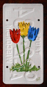 TULIPS License Plate by John Taylor