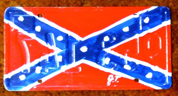 CONFEDERATE REBEL License Plate by John Taylor