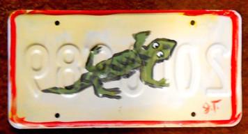 LIZARD - GECKO ? License Plate by John Taylor